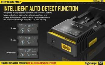 NITECORE D2 LCD-Panel Intelligent Charger für 18650 Akku