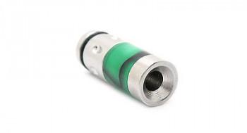 Round Mouth Drip Tip - Hybrid grün-schwarz