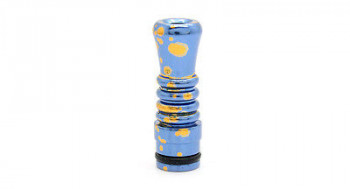 Splash Anodized Drip Tip Cone Blau - Gold