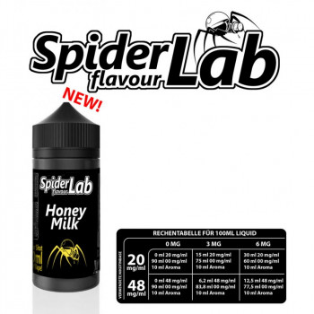 Spider Lab Honey Milk 10ml Aroma e Liquid