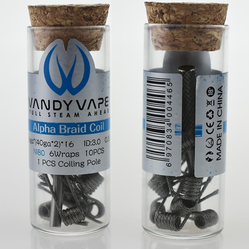 VandyVape Alpha Braid Coil (10pcs) Flasche-VVALPHABRFC - Steam-Time.de
