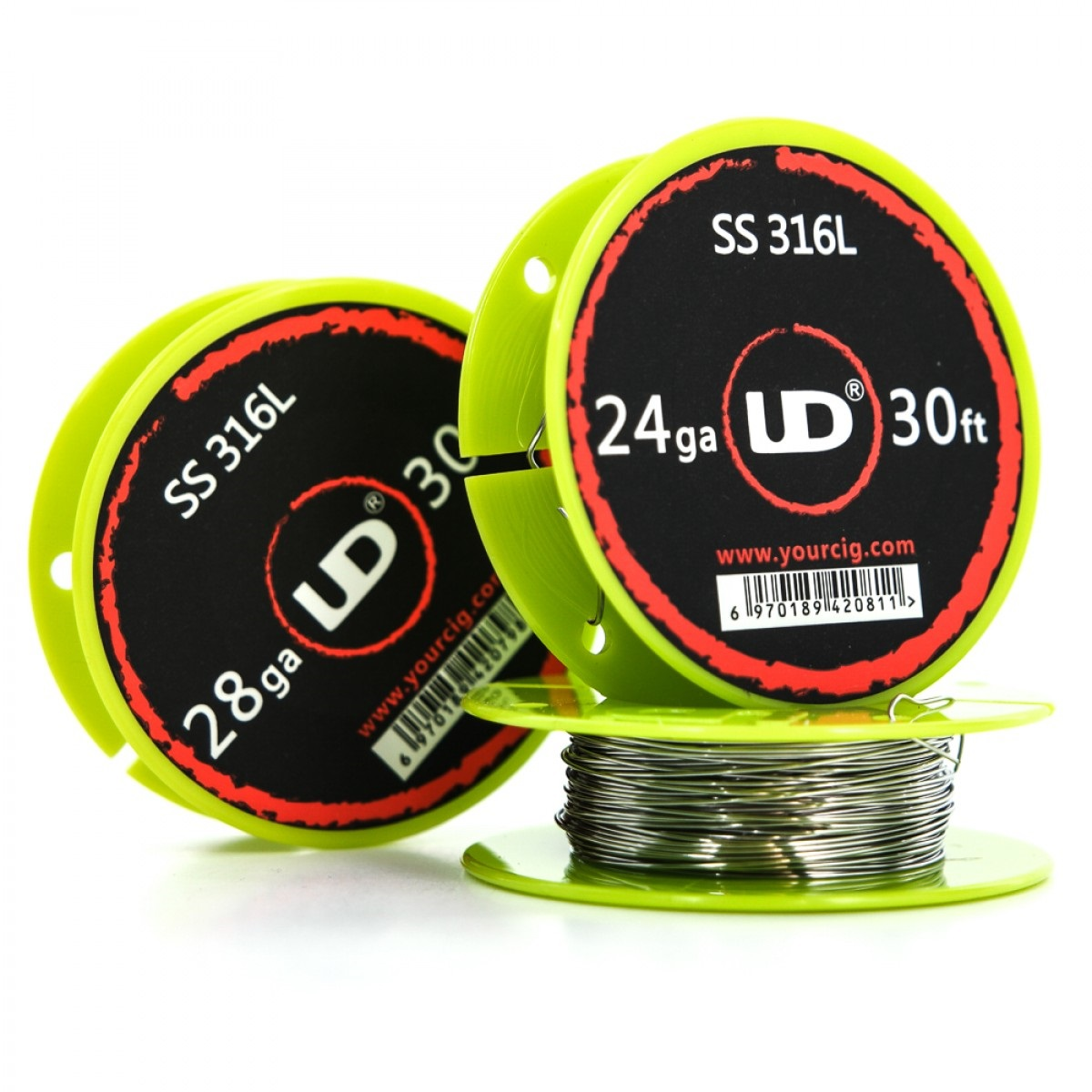 Youde UD Wickeldraht Edelstahl SS316L 10m (0,59€/1m) 28GA 0,30mm ...